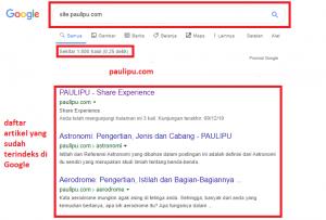 belum terindeks Google