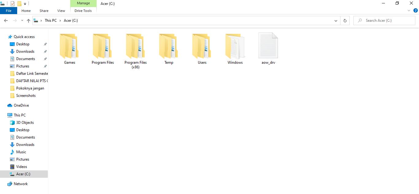 ikon folder Windows 10