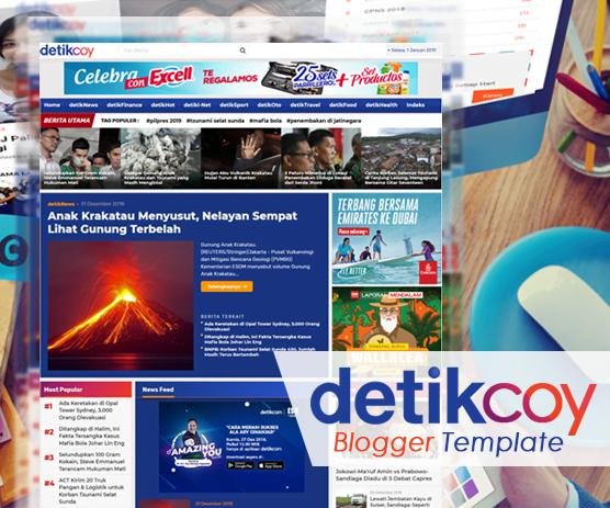 template blogger bergaya berita