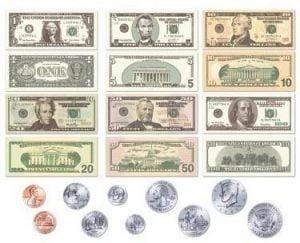 contoh uang kartal amerika serikat