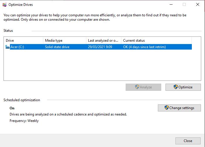 Cara Mengatur Jadwal Defrag Drive Windows 10