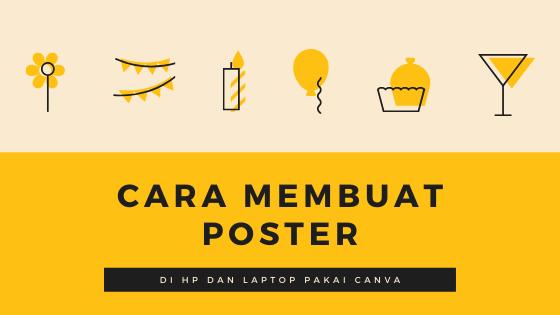 cara membuat poster