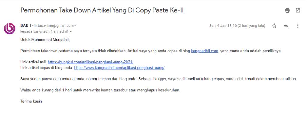 Cara LAPOR Blog Copy Paste ke Google AdSense