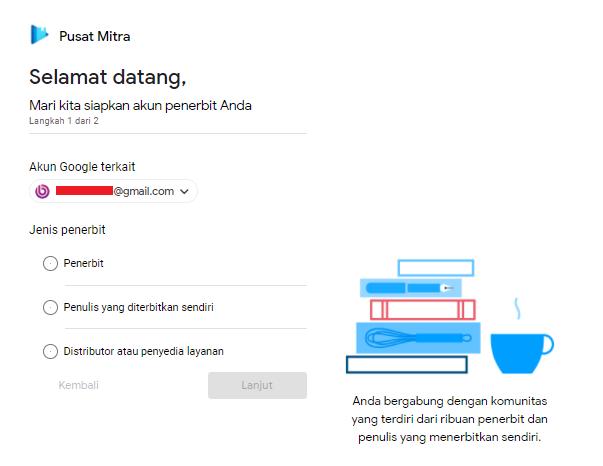 cara jual buku di Google play Buku