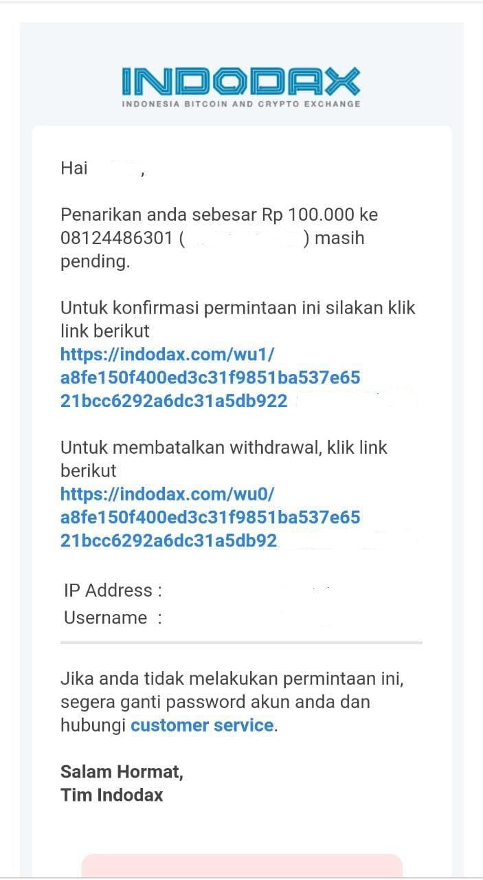 Cara Withdraw Indodax