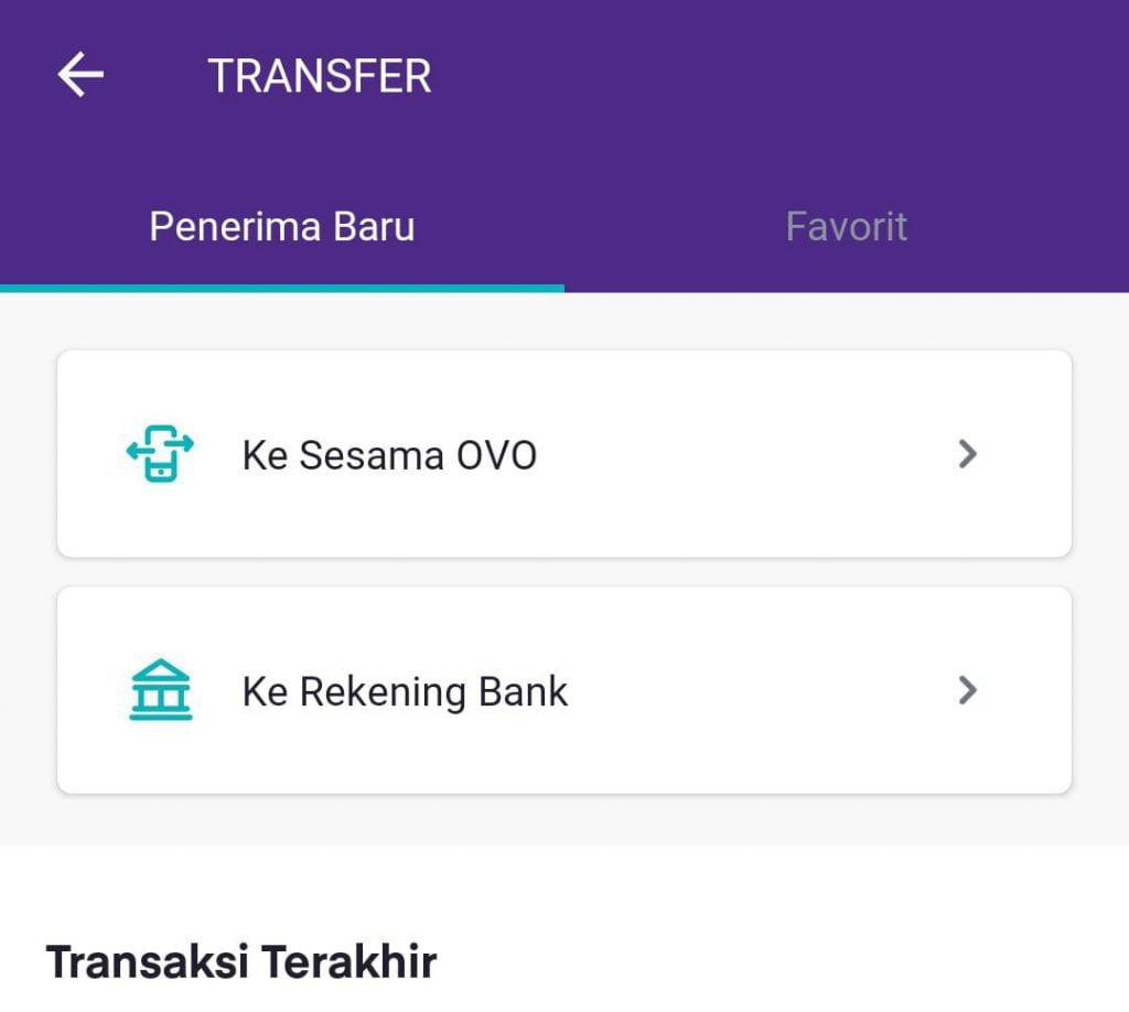 Cara Transfer OVO