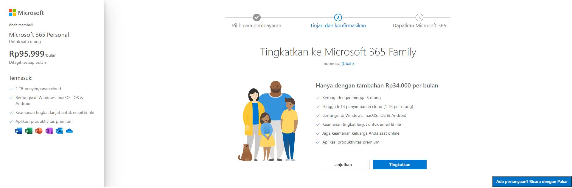 Pengalaman dan Cara Langganan Microsoft Office 365