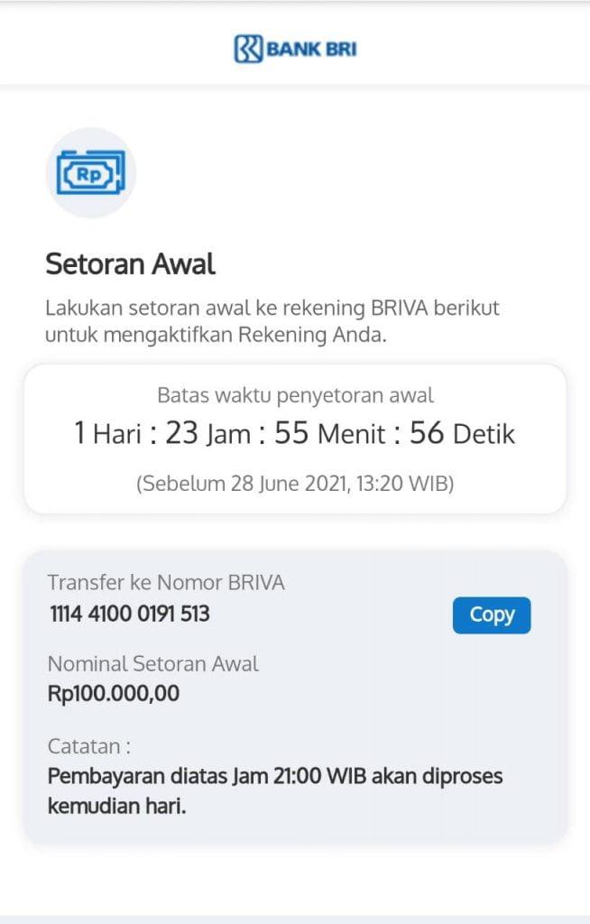 buka rekening BRI Online
