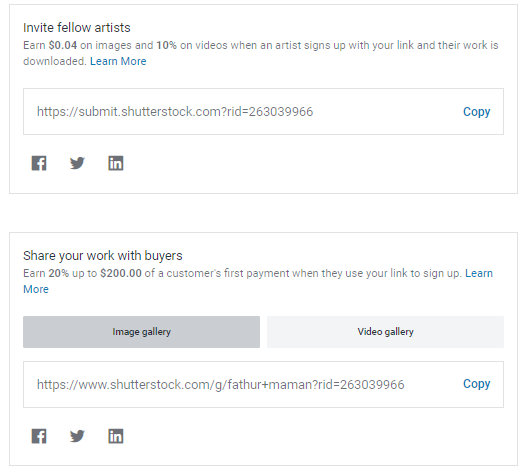 Shutterstock Referral