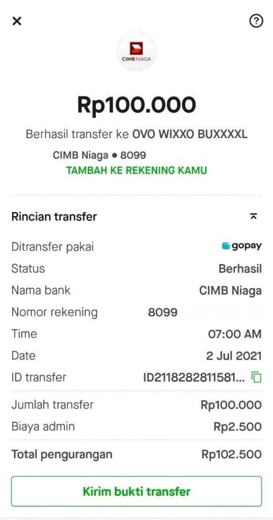 Cara Transfer OVO ke Gopay atau GoPay ke OVO