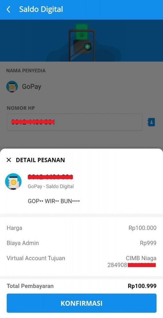 Cara Transfer DANA ke Gopay atau GoPay ke Dana