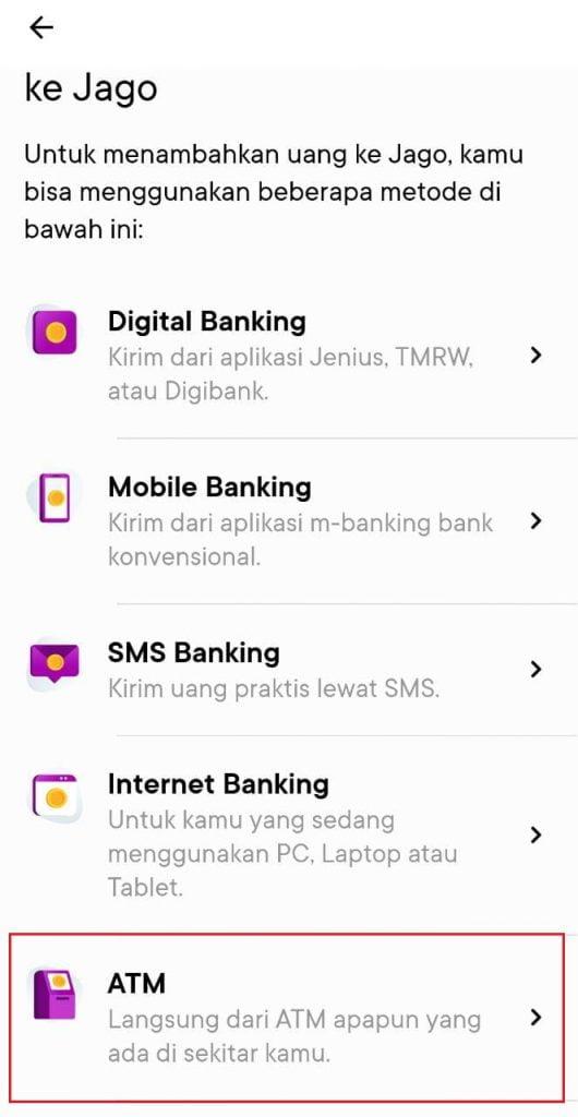 ara ISI SALDO Aplikasi Jago Dengan OVO, DANA dan GoPay