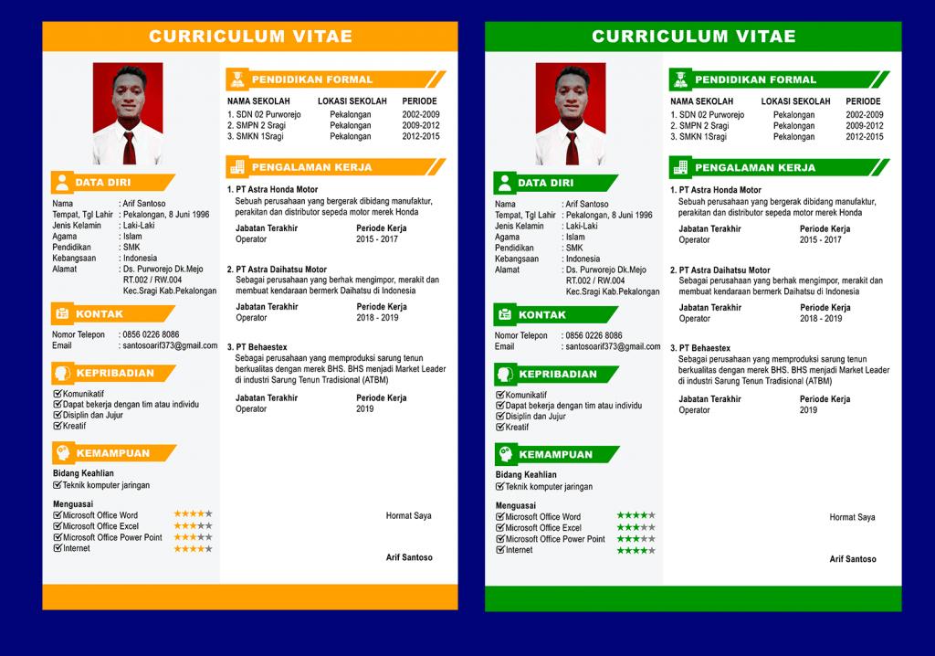 Perbedaan Portofolio, CV dan Resume