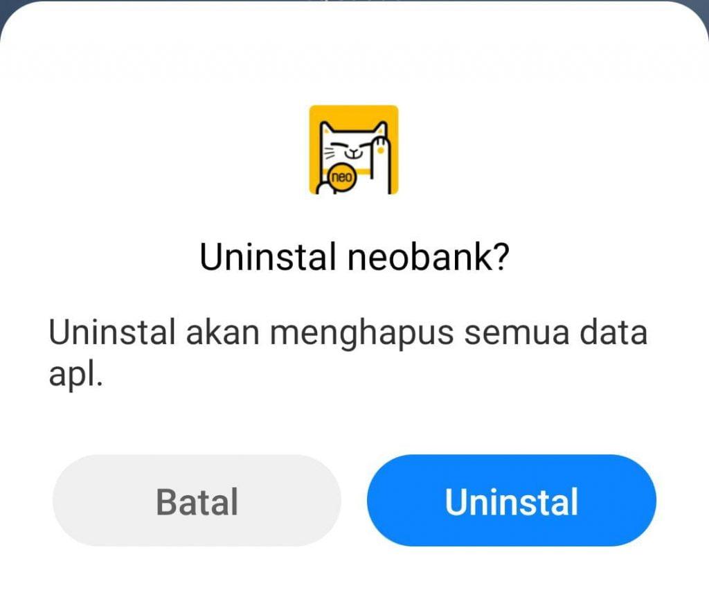 Cara Hapus Akun Neo Bank Permanen 2021